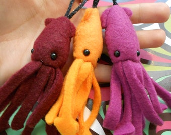 Squid Keychain CHOOSE YOUR COLOR