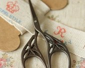 vintage antique style RETRO SCISSORS design A