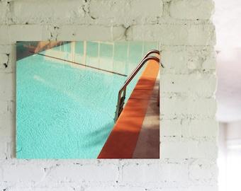 Photography Architecture Mid Century  Swimming Pool Art   Metallic Photo