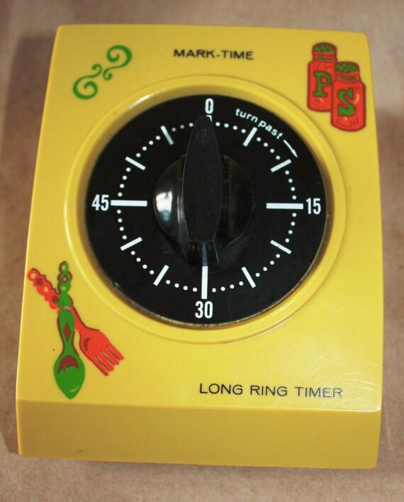 Retro Mustard Yellow Long Ring Kitchen Timer