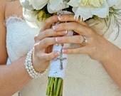 Bridal Bracelet Cuff, Bridal Pearl Cuff Bracelet, Multi Strand Pearl Bracelet, Swarovski Bridal Jewelry
