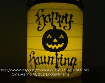 SALE Halloween Lantern Happy Haunting
