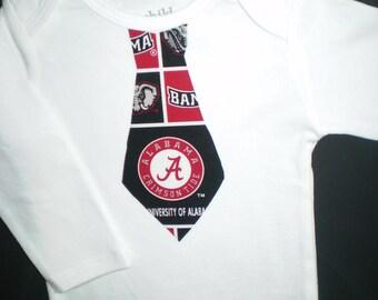Boys Alabama Tie Onesie or Tee