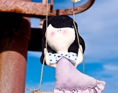 Irene ooak eco friendly mobile doll - handmade in Italy - Ecoloriamo S/S 2012 collection