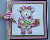 Beary Cute Altered CD Holder