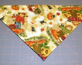 Harvest Scarecrows Handmade Dog Bandana Fall, Thanksgiving