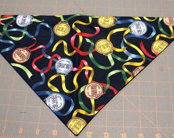 Dog Bandana, Sports, Medals, Olympics, Neckerchief, Scarf