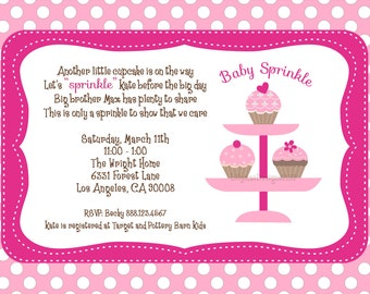 Baby Sprinkle Shower Invitation - Digital File