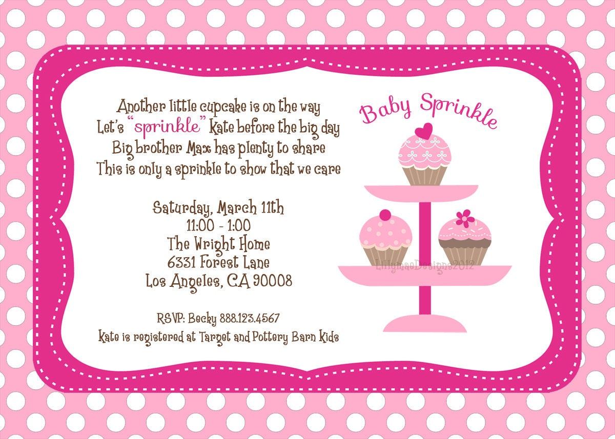 baby sprinkle shower invitation digital file