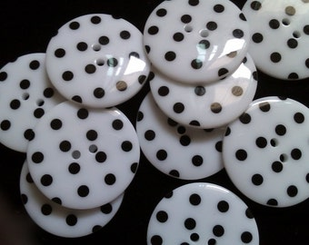 10 pcs Cute Retro Style Buttons 33 mm White Color