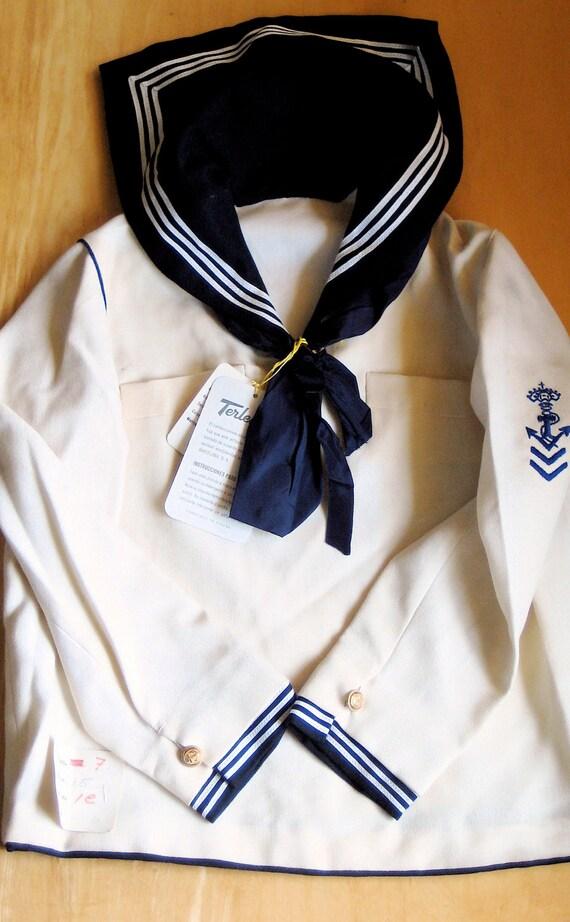 Vintage Sailor Suit NOS Nautical Halloween Costume Two Piece Child's Garment