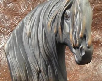 Ceramic Bust Freisian Horse