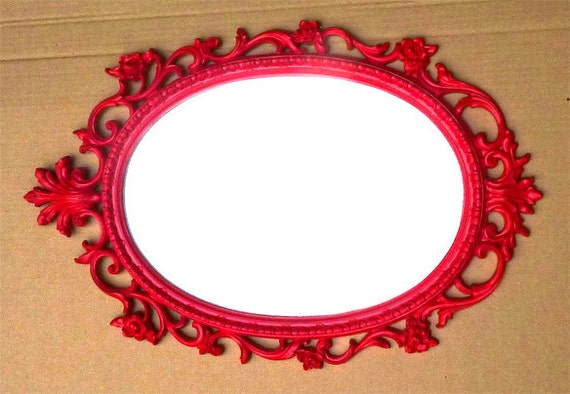 """RESERVED FOR JEFFREY . . . Large White Palmette Syroco Mirror . . . 2"""" x 19"""" x 29"""" long  . . . Empire Style"""