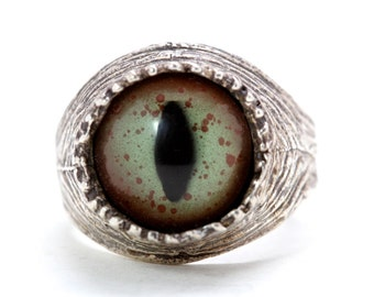 Snake Eye Ring sizes 4 to 11 self adjustable sterling silver made in NYC quantity listing