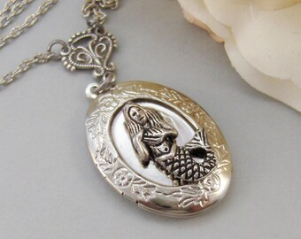 MerGirl,Locket,Mermaid, Mermaid Locket,Antique Locket,Silver Locket,Goddess,Ocean Locket,Handmade jewelry by valleygirldesigns