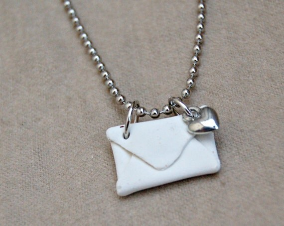 love letter envelope necklace