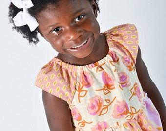 Peasant Dress Pattern, Girls Dress Pattern, Sewing Patterns, PDF Sewing Pattern, Easy Flutter Dress Sewing PDF Patterns, Girl, Baby Pattern