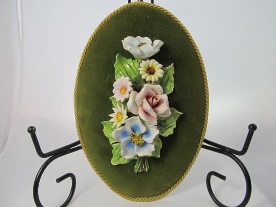 Decorative Vintage Porcelain Floral Wall Art
