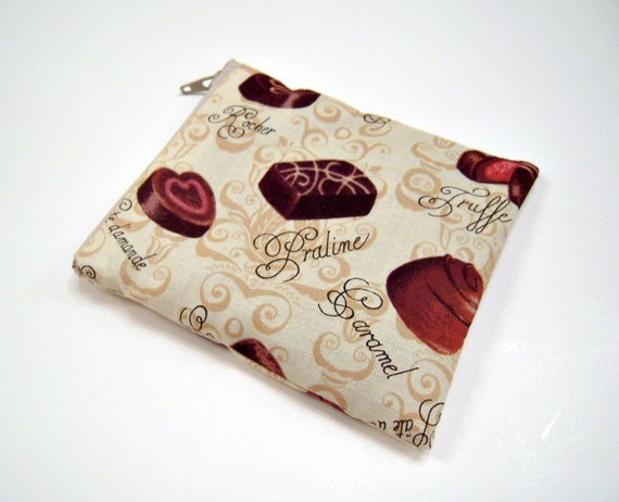 Box of Chocolates Zippered Coin Pouch