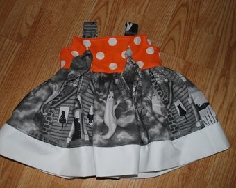 Halloween RTS Knot Dress size 6/12 months -only 1 avalilable