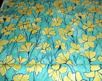 Michael Miller Day Lillies in yellow 1 yard