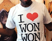 SALE!!  I (heart) WON WON. Unisex/Men American Apparel sizes small, large, 2XL