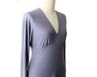 Plus size a line dress, V neck dress with dolman sleeve, Womens dresses, Long sleeve dress, XL dress, XXL dress, Custom plus size dress