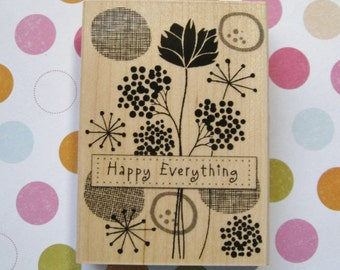 CardArt Happy Everything, Flowers - Hero Arts Rubber Stamp