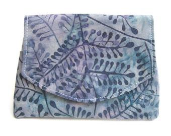 Blue Fern Batik Wallet