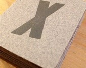 35 Letterpress Wood Type Tags (Italic X)
