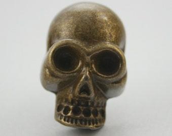2 pcs. Brass Zinc Skull Head Studs Decorations Findings 22 mm. KSSKBR2234