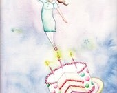 Dreaming of Cake Note Card