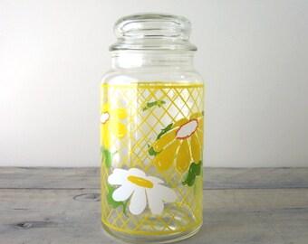 Glass Daisy Hildi Canister Jar