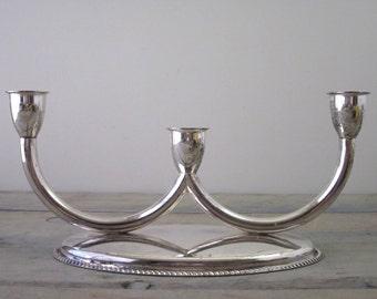 Vintage Silver Plate Candelabra Candleholder