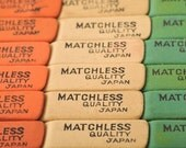 1940s Erasers Full Box - Matchless Occupied Japan - Back to School - 6 Dozen Deadstock