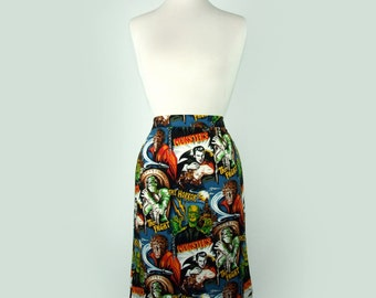 Pinup Hollywood Monsters Pencil Skirt