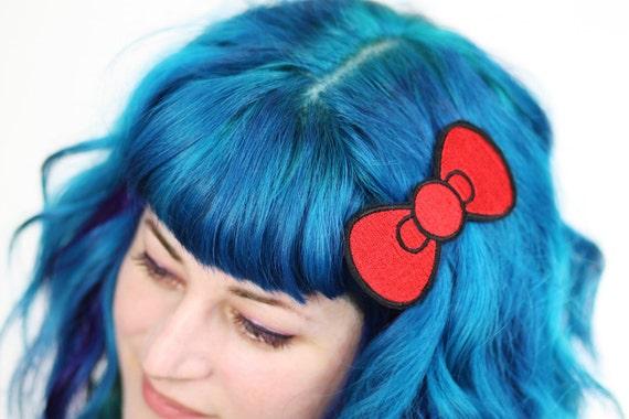 Cute Bow Hair Clip, Cute Bow, Red