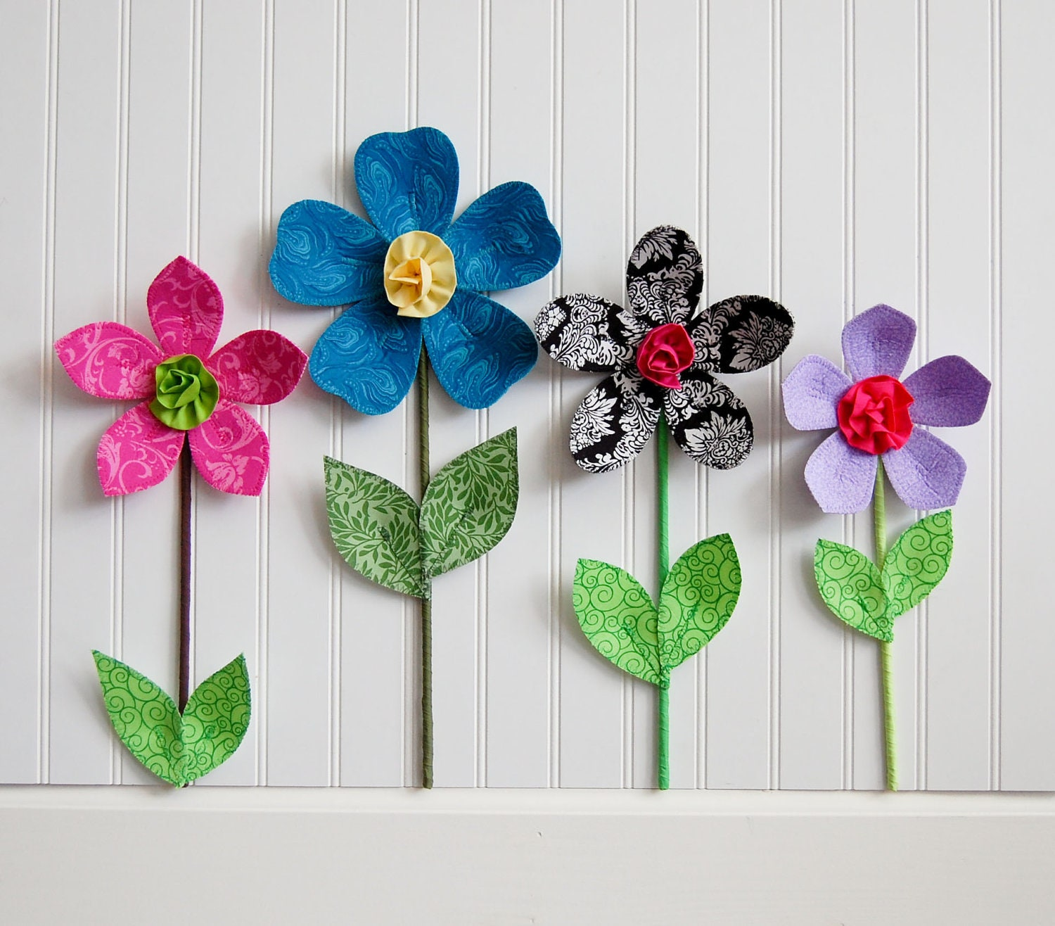 Sale fabric wall flower 3d wall art teal for 3d flowers for wall decoration