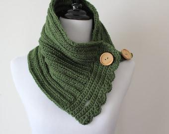 Olive Green Cowl Neckwarmer