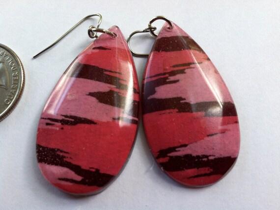 Pink Ikat earrings
