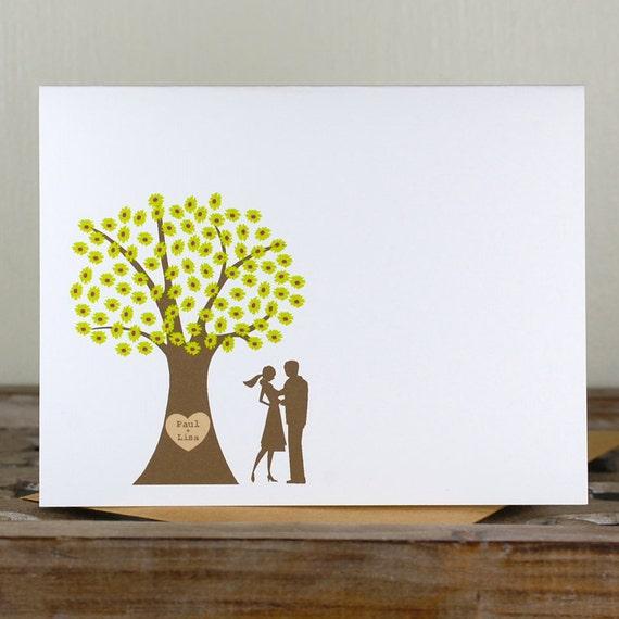 Wedding Thank You Cards, Bridal Shower, Wedding, Thank You Cards, Bridal Shower, Trees, Silhouettes, Outdoor Wedding