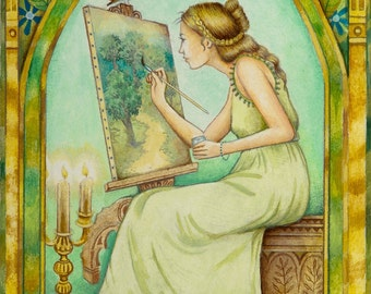 The Artiste - From The Chrysalis Tarot Troupe Of Medieval Characters