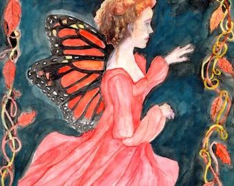 Autumn Monarch Fairy signed 8 x 10 print