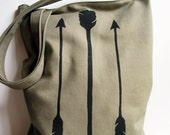 Arrows Screenprint Tote Bag Recycled Fabric