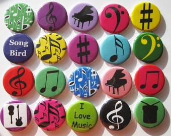 set of 20 1.25 inch buttons pinback flatback or hollowback
