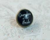 Grandpa of the Bride Lapel Pin, Tie Pin, Tie Tack, wedding gift for him