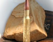 Zombie Killer,  Bullet Necklace Pendant or Keychain, Etched 50BMG