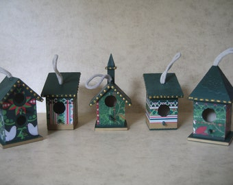 Made to Order 5 Birdhouse All Occasion Ornaments
