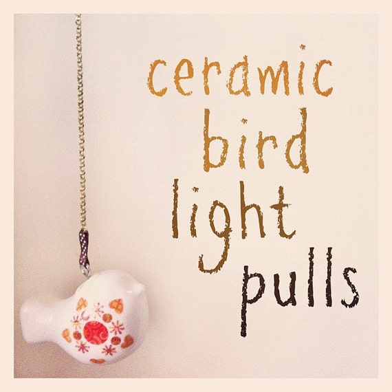 Ceramic bird light pull