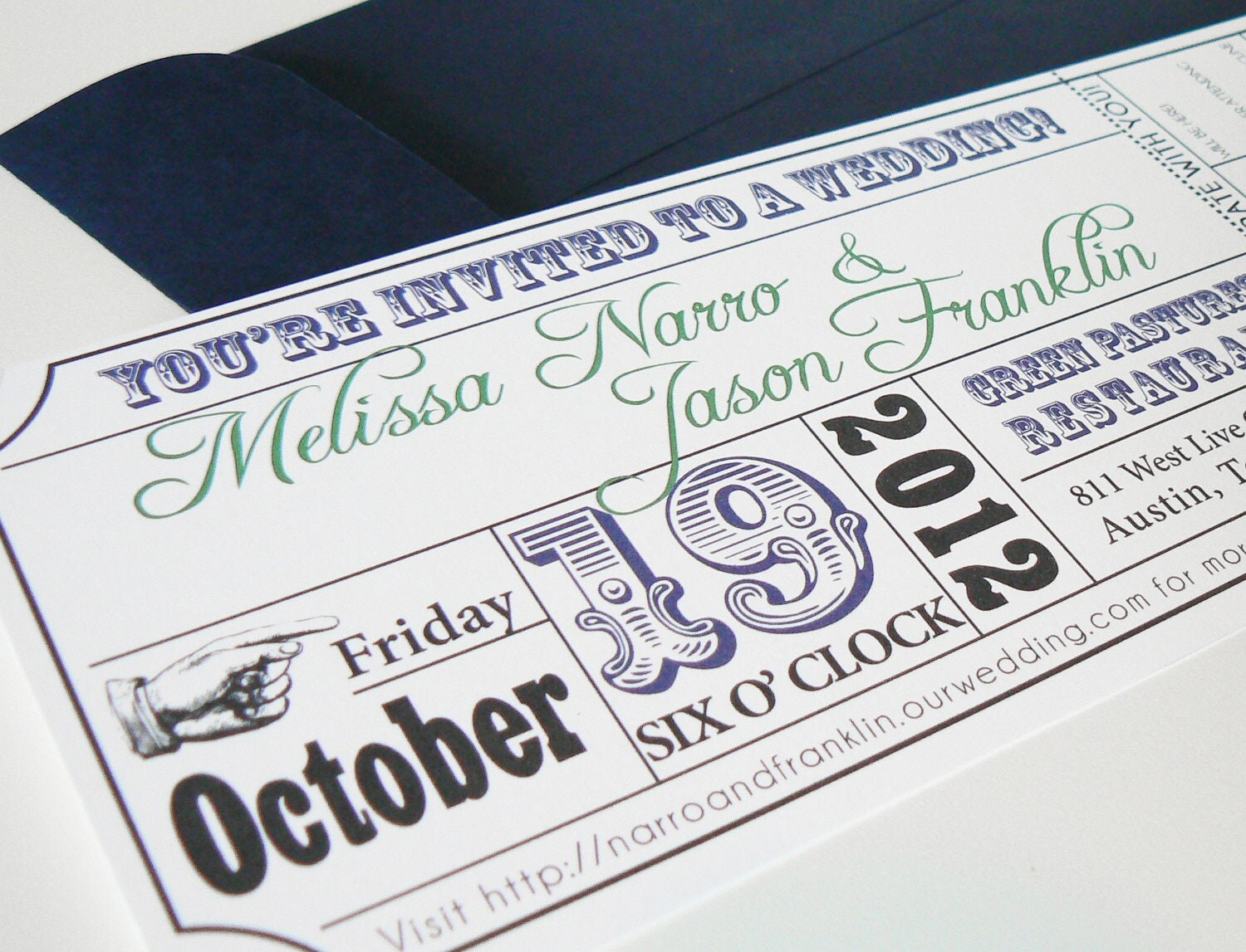 Wedding Invitation Tickets: Sarah Hibler's Movie Ticket Wedding Invitation
